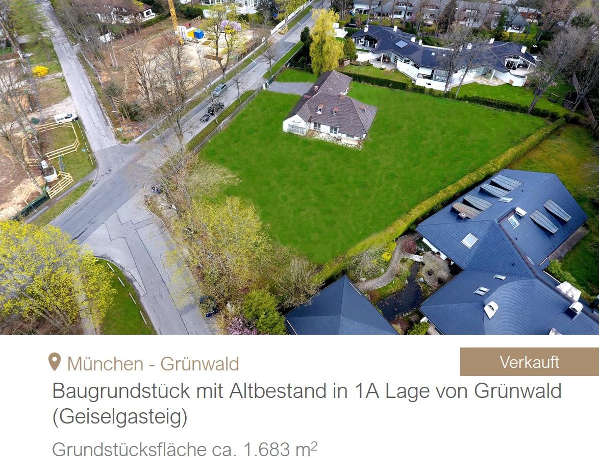 Grundstück Grünwald verkauft