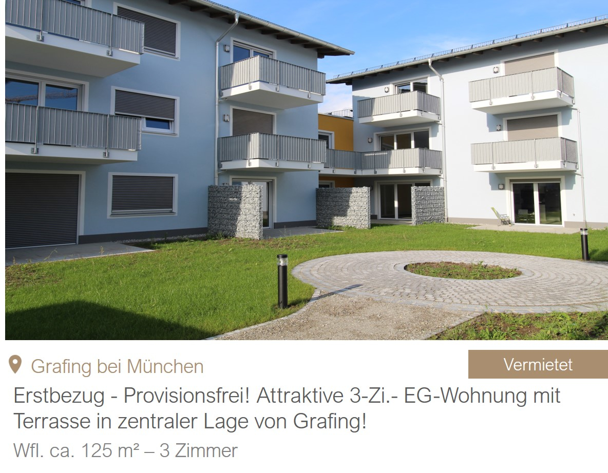 MGF Group - Wohnung Grafing Miete
